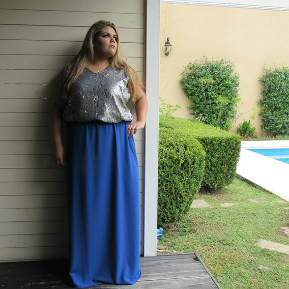 Maxifalda Azul- Talles Grandes