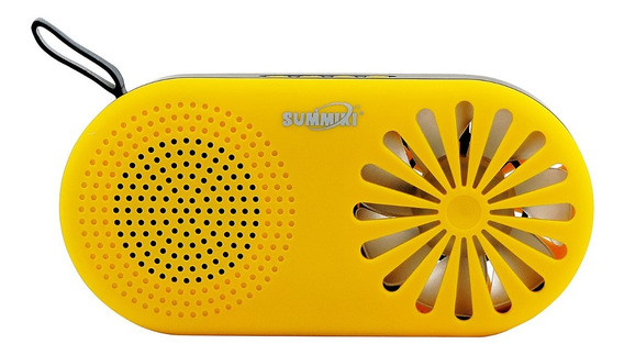 Caixa De Som Bluetooth Wireless Speaker Radiofm C/ventilador