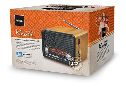 Imagen 1 de 1 de Parlante Inalámbrico Microlab Radio Retro Mini Classic