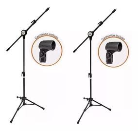 2 Suporte Pedestal Microfone Vector Pmv-100-pac