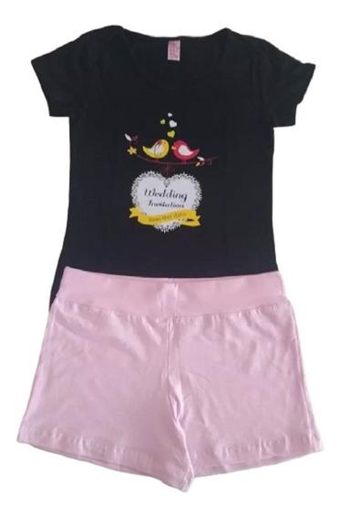 Kit 12 Conjuntos Roupas Infantil Menina Feminina Tam 1 Ao 14