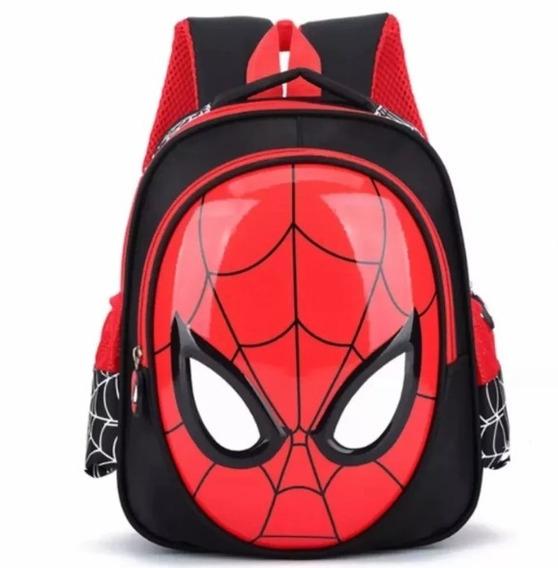 Mochila Escolar Infantil Homem Aranha 3d