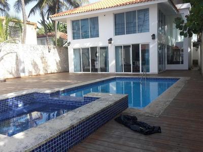Espectacular Casa De 2niveles A Orilla De Playa, Amoblada 6h