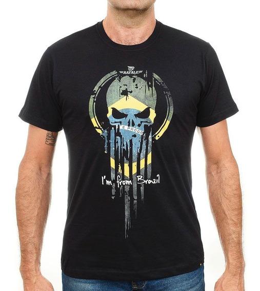 Camiseta Militar Airsoft Caveira Rafale From Brazil 114p