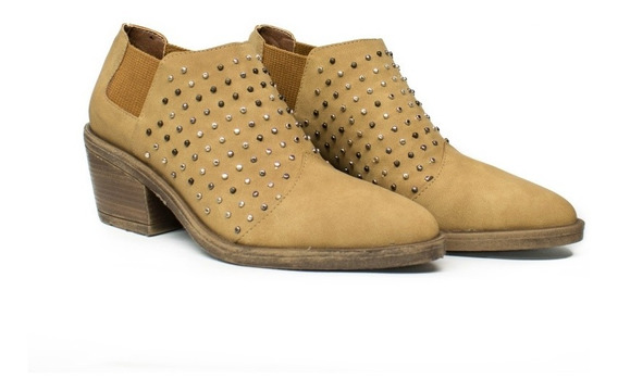 Zapatos Mujer Texanas Dama Con Tachas Botas Botinetas