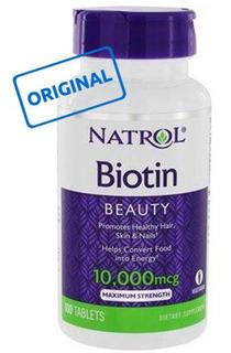 Biotina Natrol ®10.000 Mcg Original | 100 Tabl | Made In Us