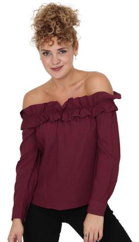 Imagen 1 de 4 de Blusa Mujer Salvaje Tentación Vino 60403005 Rayón