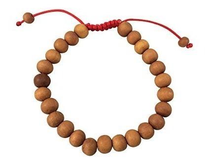 Pulsera De Muñecas De Madera De Sandalo Tibetano Para Medita