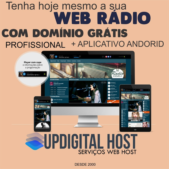 Radio Completa Com Programetes + Aplicativo Personalizado