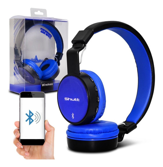 Fone De Ouvido Headphone Basic Wireless P2 Azul Shutt