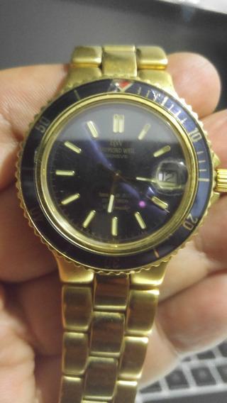 Relógio Suíço Masculino Raimond Weil Diver 200 M Ouro 10 M