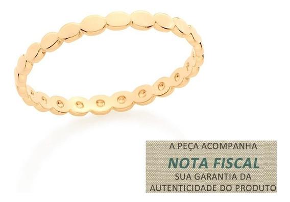 Anel Pequenas Esferas Ovais Folheado Ouro Rommanel 512605