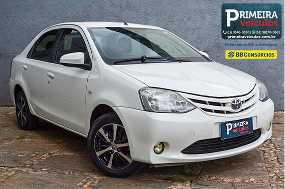 Etios Sedan Xs 1.5 2014/15, Completão, 4 Pneus Dunlop Em 80%