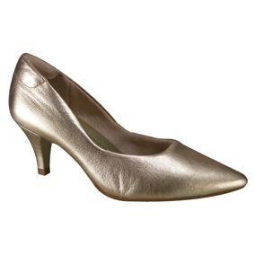 cd0becc3c Flavios Calcados Goiania Scarpins - Sapatos Dourado-escuro com o ...