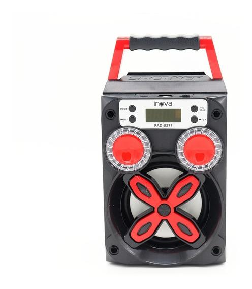 Caixa De Som 8w Rms Bluetooth Rádio Fm Sd Auxiliar Usb Praia