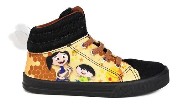 Tênis Disney Preto Infantil Cano Alto Show Da Luna 24 05