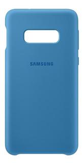 Capa Protetora Silicone Azul Samsung Galaxy S10e