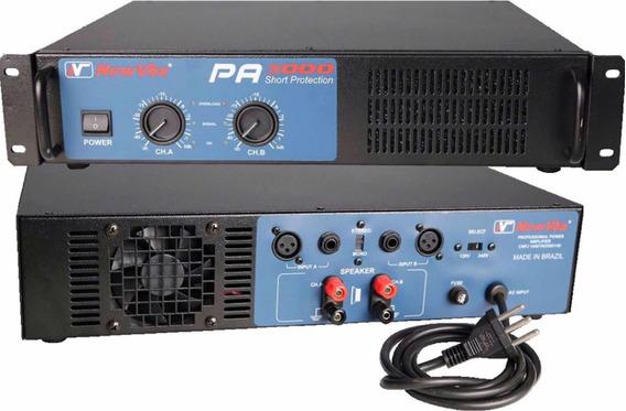 Amplificador Potência New Vox Pa 5000 - 2500w Rms