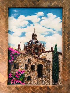Oleo Original Slp México 1.50mts De Laura L. Marco Antiguo