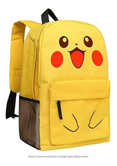 Mochilas Escolares Mokago Pikachu Amarilla