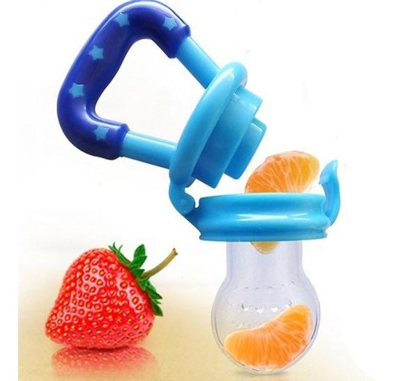 Kit Com 2 Chupeta Alimentadora De Fruta Bico Silicone Bebê