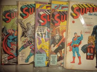 Lote Superman Em Formatinho 56 Edicoes Ebal 1976 Otimos