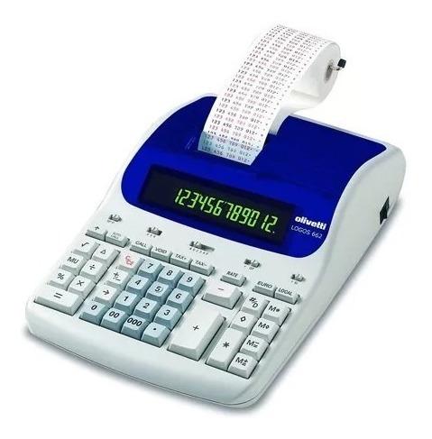 Calculadora Olivetti Semi Nova Perfeita Logos 662