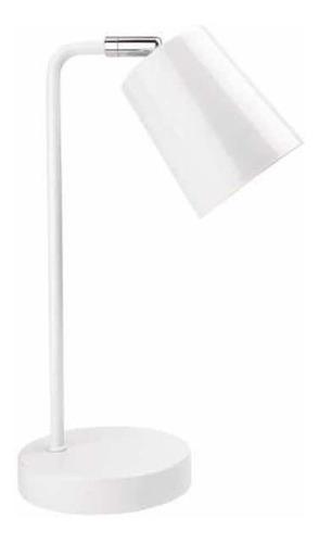 Lampara Portátil De Mesa En Color Blanco Con Led
