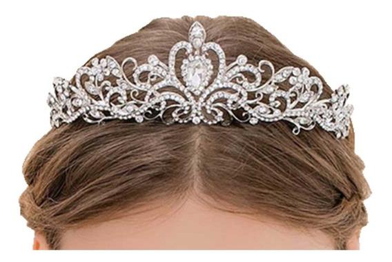 Tiara Coroa Noiva Debutante Com Strass Casamento Miss Coroa