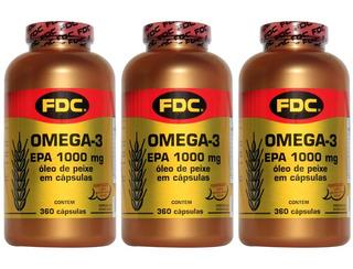 Fish Oil Ômega 3 Epa Dha Puro Importado Fdc (oferta 1080 C)