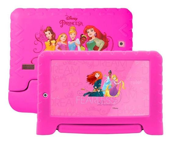 Tablet Multilaser Disney Princesa Plus Nb308 1gb 16gb Expansível 64gb 2 Câmeras Android Nota Fiscal Garantia Oferta Loi