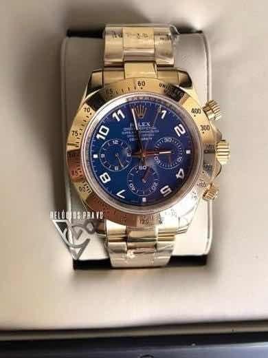 Rolex Daytona Dourado Gold Azul 40mm