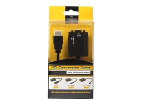 Conversor Adaptador De Video Hdmi Para Vga Com Audio P2