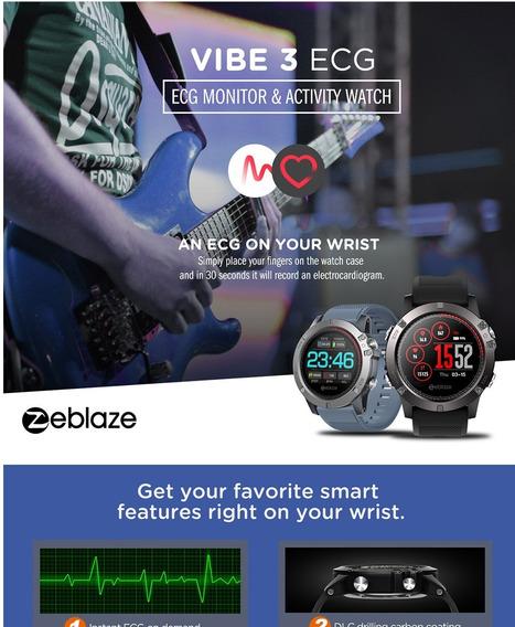 Zeblaze Vibe 3 Ecg 122 Polegada Relógio Inteligente Rastread