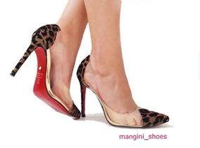 2b6425e743 Scarpins Solado Vermelho De Onca - Sapatos no Mercado Livre Brasil