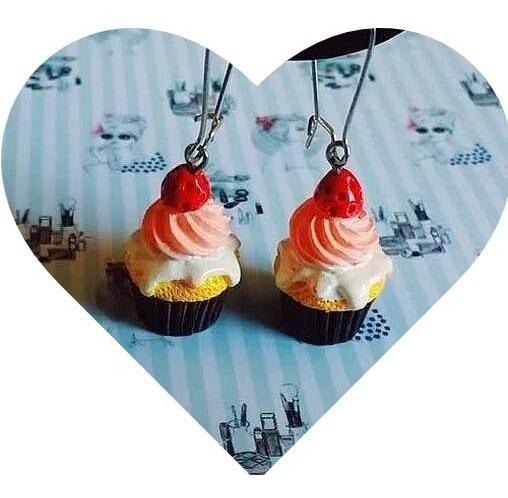 Lindos Brincos Divertido Femininos Pop Diferente Cupcake