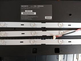 Kit Barra De Leds Kdl-32r434a Sony 3 Pcs