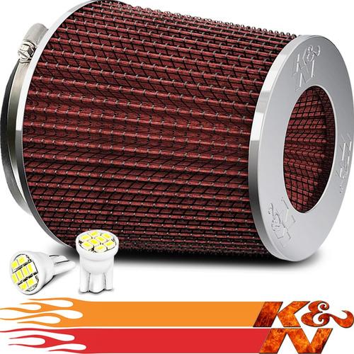 Imagem 1 de 5 de Filtro De Ar Esportivo K&n Ken Duplo Fluxo Rg-1001rd +brinde