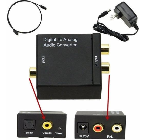 Adaptador Conversor De Áudio Digital Para Analógico C Cabo