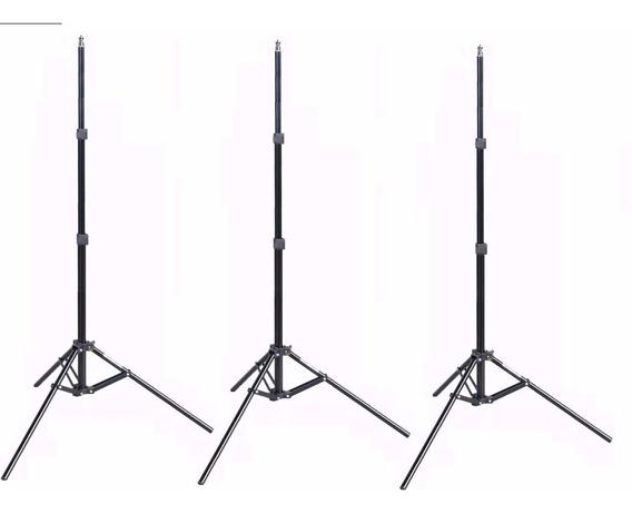 3 X Pedestal Tripé De Iluminação - Altura De Até 2 M. W803