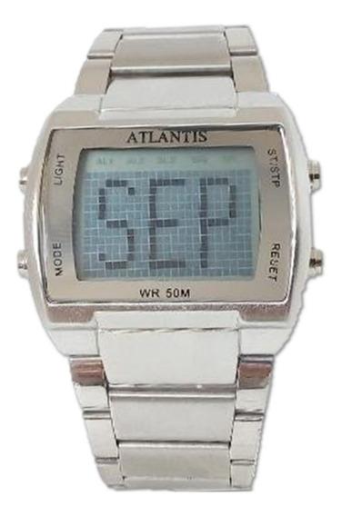 Relógio Masculino Atlantis G6484 De Aço Digital + Frete Grát