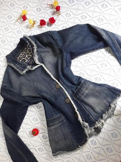 Jaqueta Jeans Feminina Titus Original Modelo Blazer