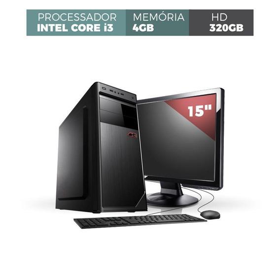 Desk Corporate Intel I3 4gb 320gb Monitor 15