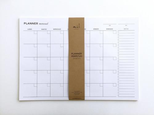 Planner Mil Letterpress Mensual