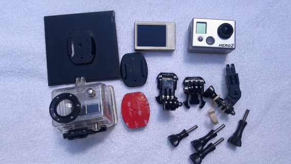 Gopro Hero2 Com Suportes+ Display (tela Lcd)