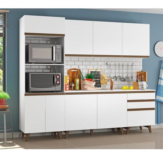 Cozinha Completa Madesa Reims 8 Portas 3 Gavetas