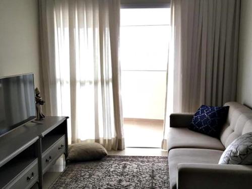 Imagem 1 de 14 de Apartamento Autêntico 3 Dormitórios Varanda Gourmet 2 Vagas
