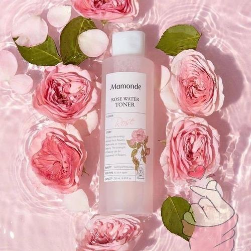 Rose Water Toner Mamonde 250ml Coreano Hidratante Y Calmante