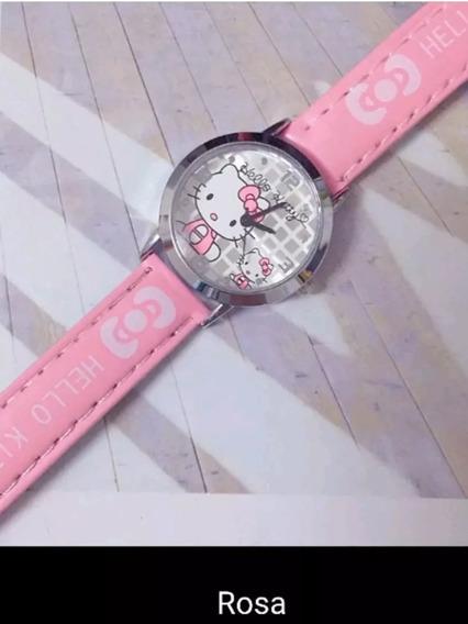 Relogio Hello Kitty Infantil Feminino Novo Pronta Entrega!!