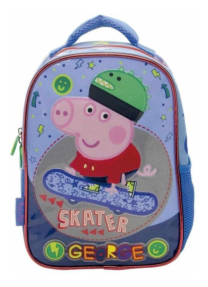Mochila Jardin Espalda Peppa Pig George Skater 12 Pulgadas